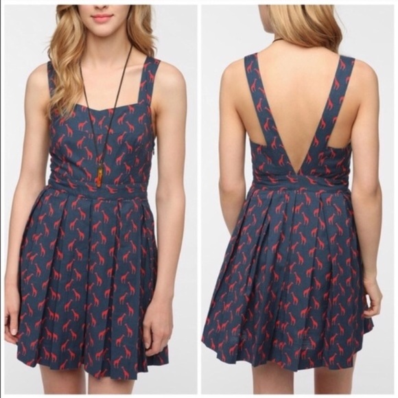 Cooperative Dresses & Skirts - Urban Outfitters Cooperative red giraffe dress